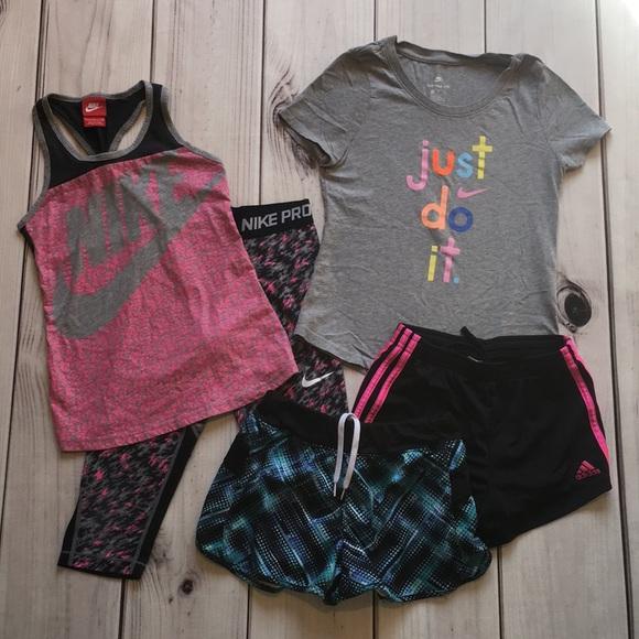 Nike Other - Girls Nike/Adidas sports bundle, 7/8